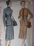 1950s LADIES SUIT PATTERN SIMPLICITY 3444