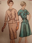 1960s SLIM or FULL SKIRTED SUIT PATTERN
