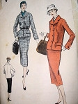 1960S VINTAGE VOGUE SUIT PATTERN 8768