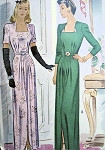 1940s WW II WAR TIME EVENING GOWN PATTERN ELEGANT STYLE!
