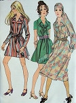 MOD 1960s DRESS, SCARF PATTERN MINI , REGULAR or MIDI LENGTHS BUTTERICK 5889