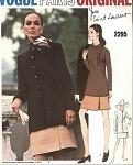 1970s YVES SAINT LAURENT 3Pc Suit Pattern  Vogue Paris Original 2295 Tunic Blouse Semi Fitted Jacket Wrap Around Skirt  Vintage Sewing Pattern