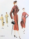 1950s SLIM DRESS, BOLERO JACKET PATTERN CLASSY DETAILS VOGUE SPECIAL DESIGN 4341