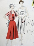 1950s Lovely Dress and Jacket Pattern EASY TO MAKE Vogue 7564 Vintage Sewing Pattern Bust 32 FACTORY FOLDED
