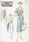 1950s  SUN DRESS, BOLERO PATTERN VOGUE SPECIAL DESIGN 4321