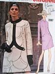 MOD 60s PIERRE CARDIN Dress Pattern Vogue Paris Original 2307 Stylish Day or Cocktail Dress Bust 34 Vintage Sewing Pattern + Label