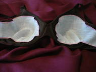 Breast Shields - Linen Bra Liner Inserts fit easily into your bra as a linen liner.