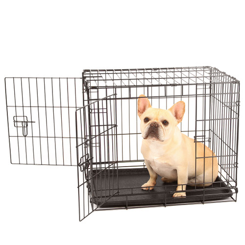 small double door wire dog crate