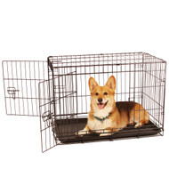 medium double door wire dog crate