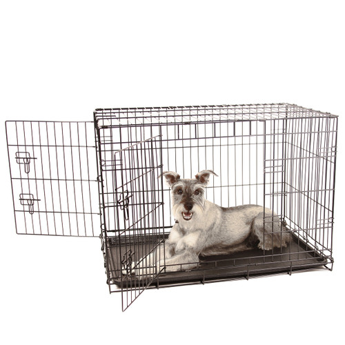 intermediate double door wire dog crate  sc 1 st  Carlson Pet Products : dog cage doors - pezcame.com