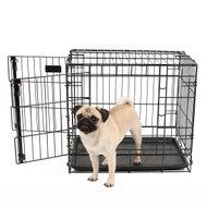 small heavy duty double door wire crate