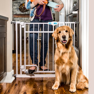 Hands free pet gate