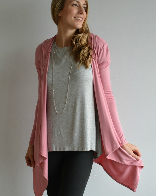 Hooded Cardigan Rose