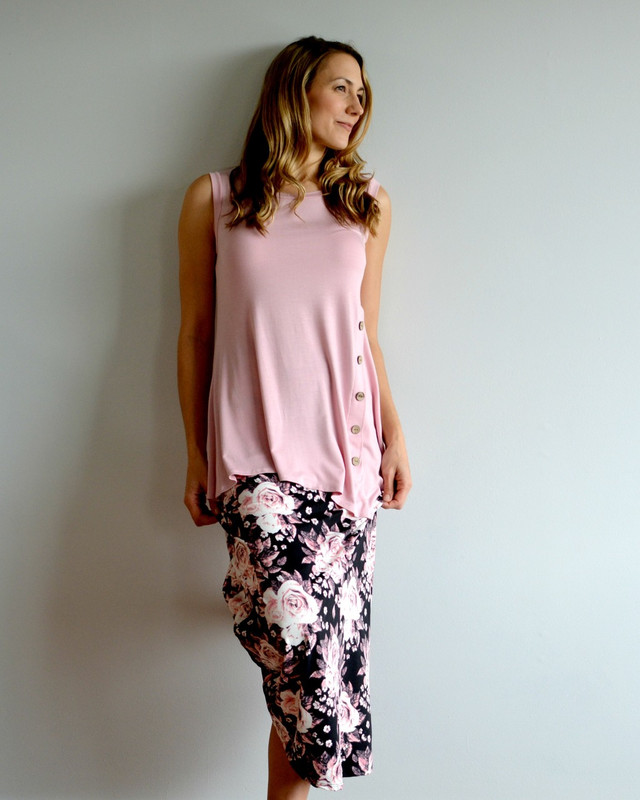 Night Rose Maxi Skirt