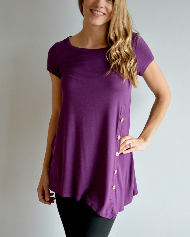Willow Short Sleeve Purple