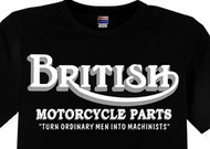 British Motorcycle Parts Machinists tee shirt