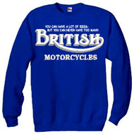 British motorcycles sweatshirt (2 many)