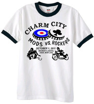 Charm City Mods/Rockers ringer tee