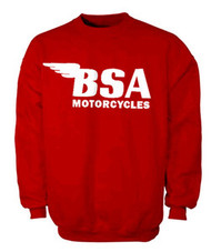 BSA sweatshirt (racing red/white)
