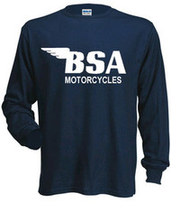 BSA longsleeve tee shirt (navy/white)