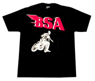 BSA flattracker tee (black/red/white)
