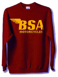 BSA sweatshirt maroon gold