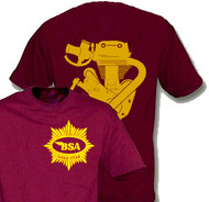 BSA Goldstar maroon/gold shirt