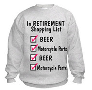 Retirement sweatshirt (shopping checklist)