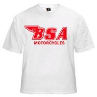 BSA motorcycle tee (white/regal red)