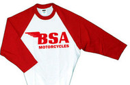 BSA baseball tee (red/white)