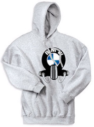 BMW hooded sweatshirt (ash)