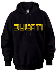 DUCATI hoodie (black/gold/outline)