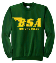 BSA sweatshirt (green/gold) outline logo