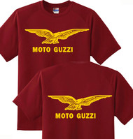 MOTO GUZZI T-shirt DBL sided (m/gold)