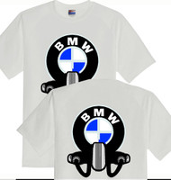 BMW motorcycle tee shirt (DBL sided)