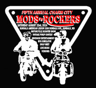 MODS ROCKERS 2014 black tee shirt