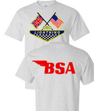 BSA Lightning motorcycle tee shirt