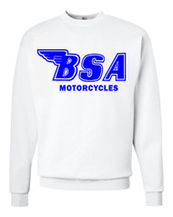 BSA sweatshirt (white/royal blue)