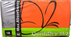 ConfiDry 24/7 (aka Dry 24/7) Adult Diapers, 93 oz.