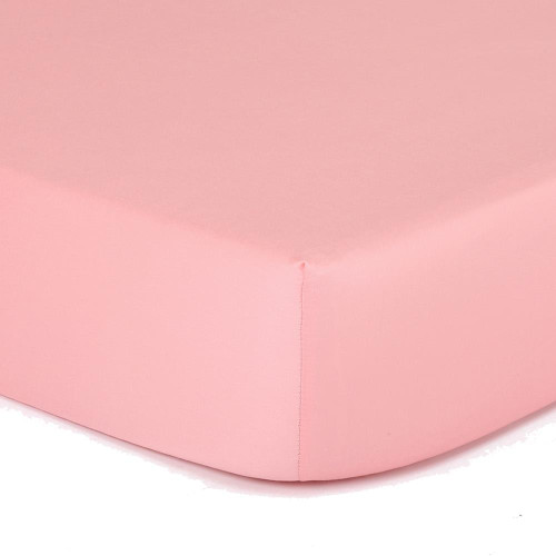 Solid Coral Fitted Cotton Sateen Crib Sheet