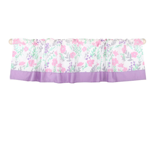 Pink Floral Window Valance