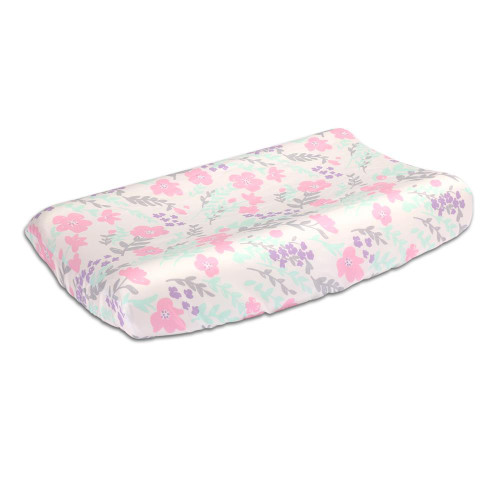 Pink Floral Changing Pad Cover