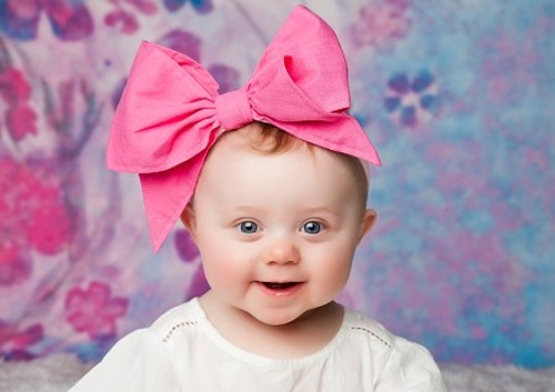 Candy Pink Soft Headband with Candy Pink Bow-Rae-Mi