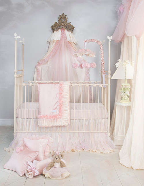 Anastasia Cream Collection 3 Piece Crib Bedding Set