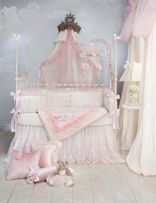 Anastasia Cream Collection 4 Piece Crib Bedding Set