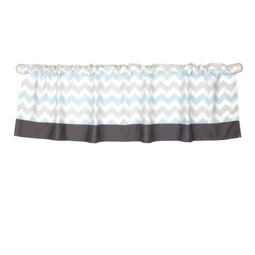 Uptown Giraffe Rod Pocket Window Valance
