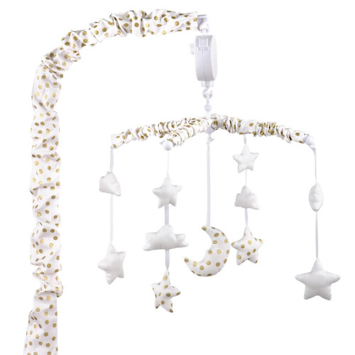Gold Stars and Moon Musical Mobile
