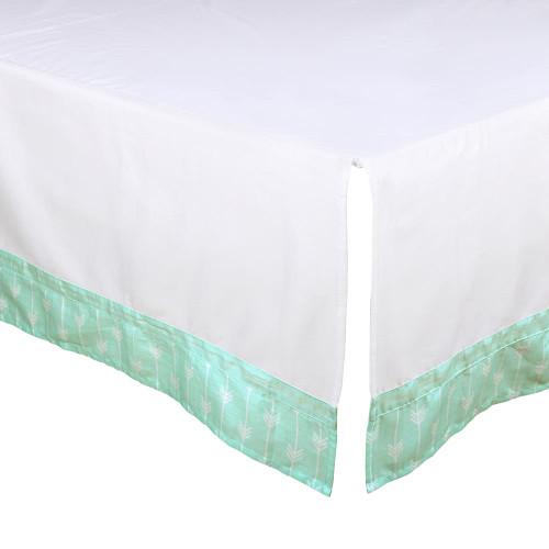 Mint Arrows Crib Dust Ruffle