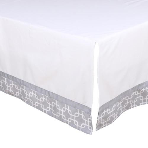 Grey Geo Crib Dust Ruffle