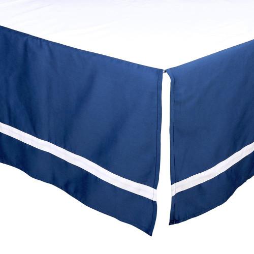 Navy Tailored Crib Dust Ruffle